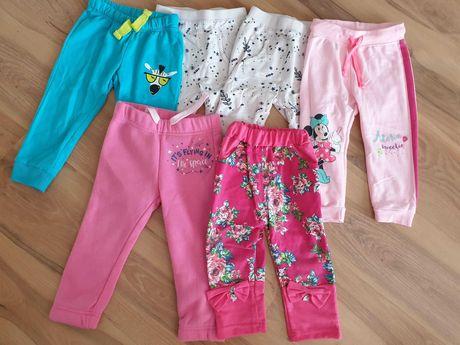 Spodnie dresowe roz 86 6 par