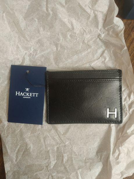 Hackett London card holder leather wallet кошелек картхолдер