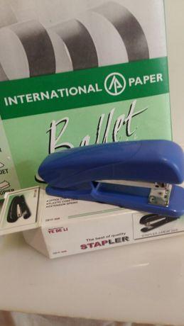Бумага офисная качество степлер