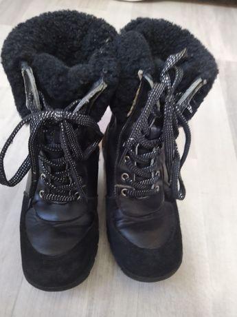 Зимние кожаные ботинки для девочки