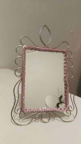 Lusterko lustro kosmetyczne różowe