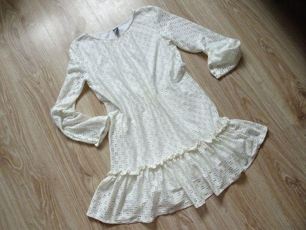 ZARA biała koronkowa sukienka sukieneczka komunia wesele 134/140