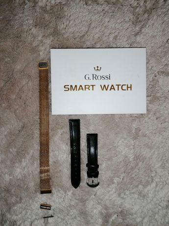 Paski do Smart watcha ginno rossi skórzany i złoty na magnes