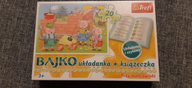 Nowe puzzle+książeczka trzy małe świnki