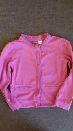 Bawełniany sweter fioletowy rozpinany r 98 104