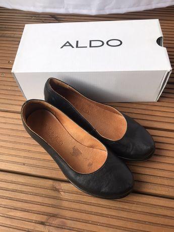 Buty skórzane 100 % skóra czarne Ryłko koturna