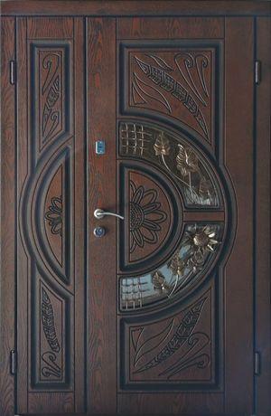 Двери входные 120 Полимерная Термо Плита НЕ МДФ ! полуторные В Наличии