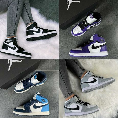 Женские кроссовки Nike Air Jordan 1 Retro High. 4 расцветки. НАЛОЖКА!