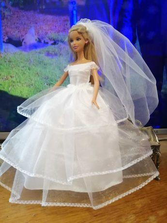 Suknia ślubna dla lalki