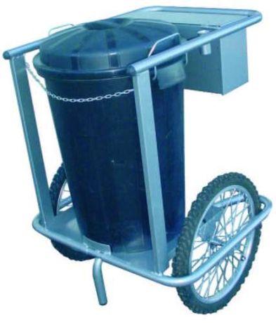 Carro c/ rodas pneumáticas para o Caixote Contentor do lixo 150 litro