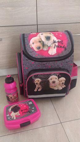 Plecak szkolny The Dog, śniadaniówka, bidon