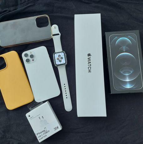 Iphone 12 pro max 128 + smartwatch SE novo