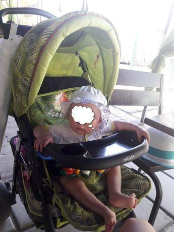 Детская прогулочная коляска книжка Sigma
