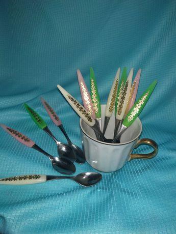 Ложечки кофейные, набор кофейных ложечек,цветные,сувенирные,сувенирный