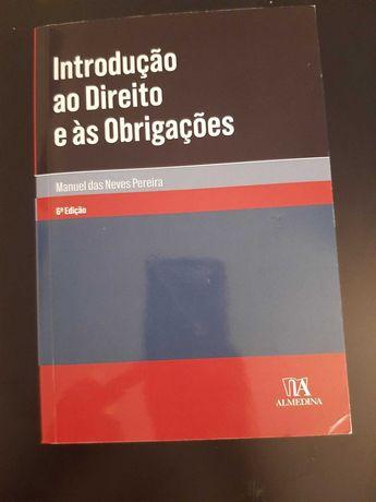 """Livro """"Introdução ao Direito e às Obrigações"""""""