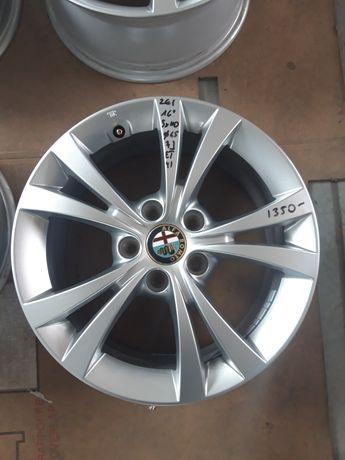 261 Felgi Aluminiowe ORYGINAŁ ALFA ROMEO R16 5x110 otwór 65 NOWE DEMO