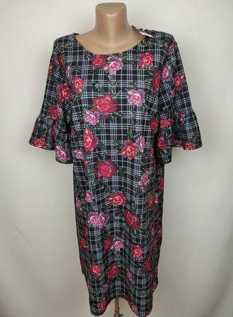 Платье новое красивое в принт большого размера uk 18/46/xxl
