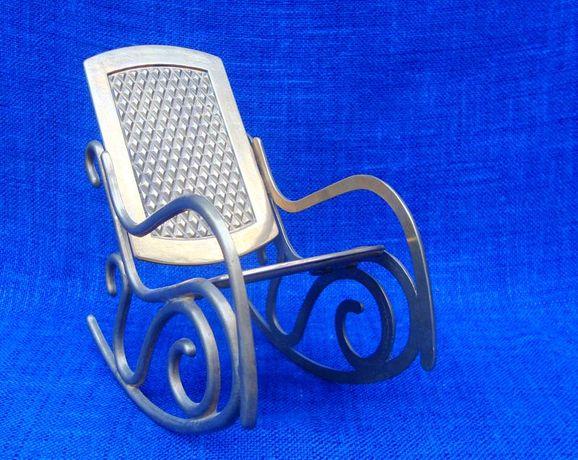 Кресло-качалка из латуни! Винтаж! Германия