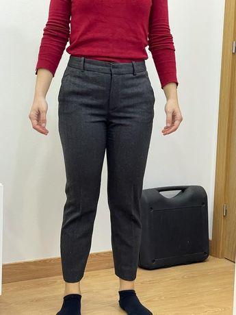 Calças pinças Zara/fato cinzento escuro