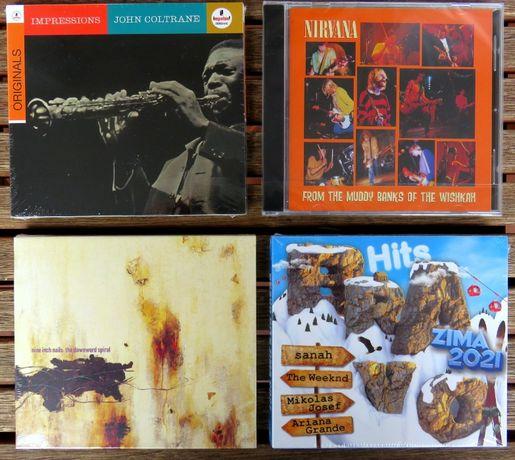 Płyty CD. John Coltrane, Nina Inch Rails, Nirvana, Bravo Hits Zima2021