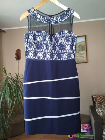 Suknia wesele/komunia/impreza rozmiar 40 granatowa