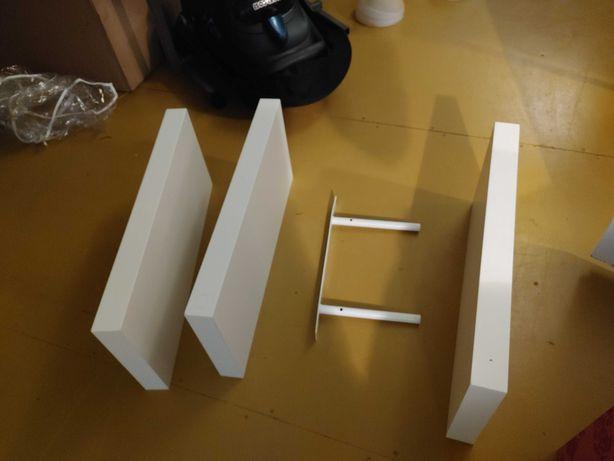 Trzy Półki IKEA persby białe