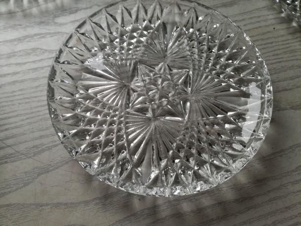 Talerzyki KRYSZTAŁOWE do ciasta, śr.16 cm-6 szt
