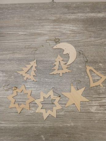 Bombki- zawieszki drewniane 7 szt