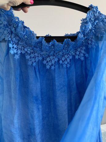Sukienka charbrowa M luźna