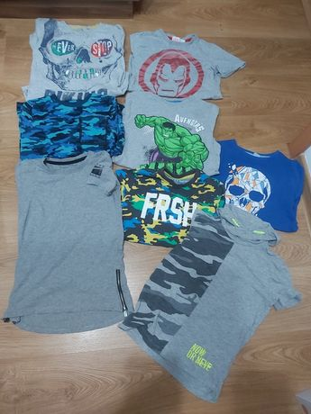 Koszulki krótki rękaw T-shirty dla chłopca rozm 140 paczka zestaw lato