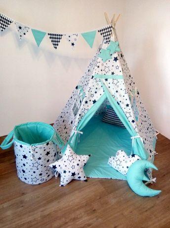 """Tipi. Namiot dla dzieci """"Pięciokątny""""Planeta Gwiazd"""