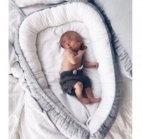 Babyly kokon niemowlęcy haftowany, wykonany ręcznie w Polsce
