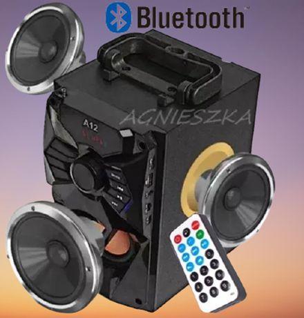 Głośnik A12 Bluetooth BoomBox 2.0 USB SD AUX RADIO FM Pilot