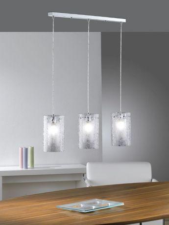 Lampa sufitowa zwis nad stół jadalnia szkło Paul Neuhaus Imara