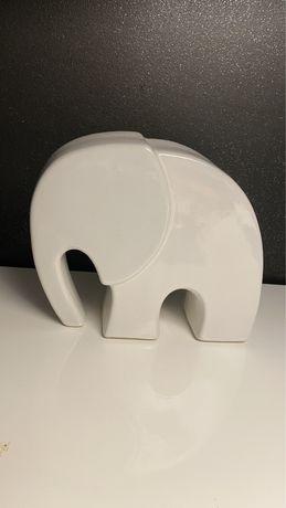 Słoń porcelanowy dekoracja domu