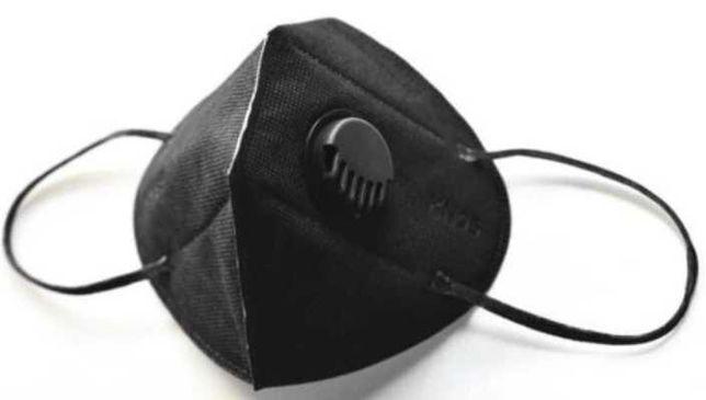 Maska ochronna FFP2 Maseczka KN95 + zaworek Szara,czarna
