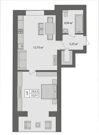 Квартира в зданій новобудові