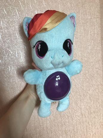 Музыкальная игрушка мягкая плюшевая пони my little pony ночник