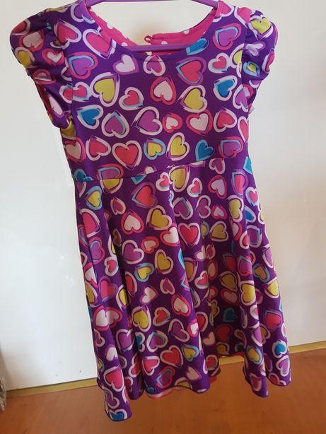 Śliczna dwustronna sukienka 98/104