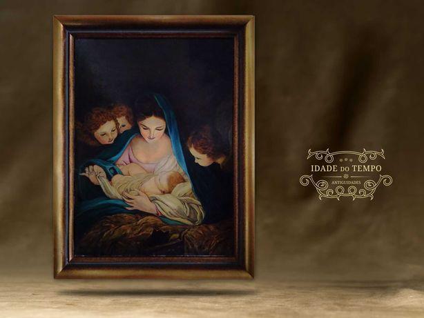 Pintura a óleo - A Natividade