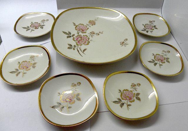 фарфор тарелка набор винтаж антик Германия