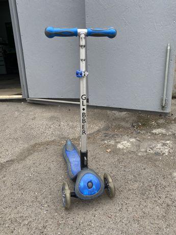 Самокат Globber Elite синий колеса и панель с подсветкой