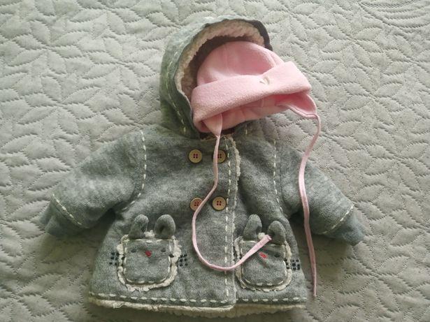 Kurteczka dla niemowlaka, 56/62 plus czapeczka