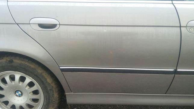 Drzwi Prawy Tył BMW E39 Sedan Aspensilber