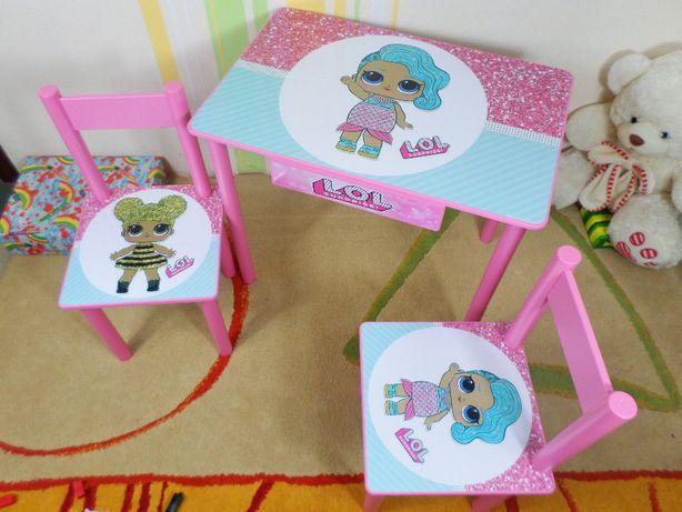 """Детский стол и стул """"Кукла Лол - dolls L.o.l """" стол-парта и стульчик"""