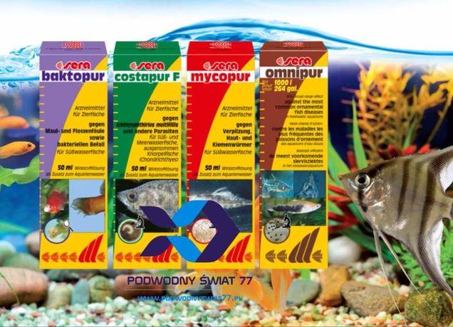Sera Lekarstwa Dla Ryb (Omniforte, Baktoforte, Mycoforte) - akwarium