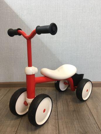Біговел дитячий Smoby Toys металевий, чотириколісний червоний (721400)