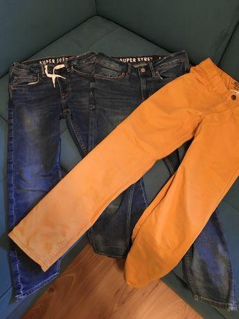 Spodnie H&M 140 cm  3 pary idealne