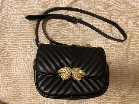 Mala/carteira tiracolo ou cintura preta zara