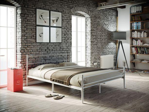Łóżko metalowe 140x200 mocne i stabilne białe